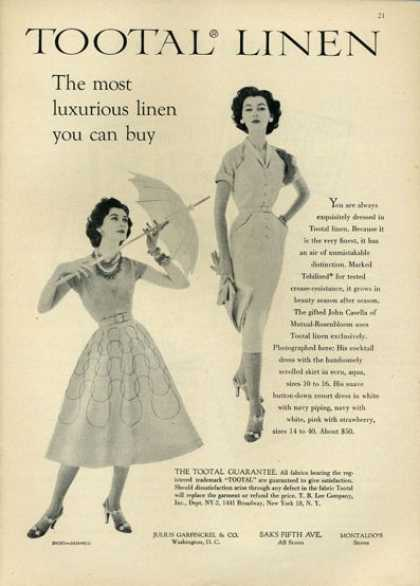 Tootal Linen Fashion Skirt Dress Shoes (1952)