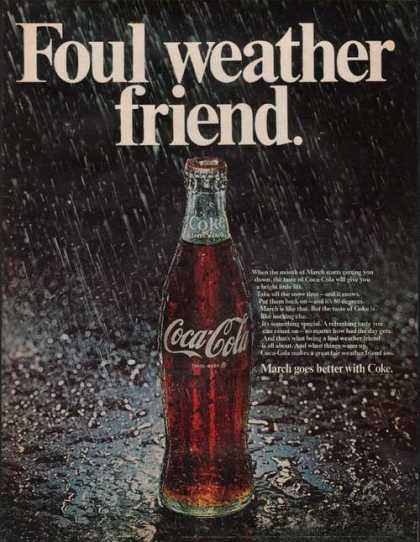 Foul Weather Friend Coca Cola Soda (1969)