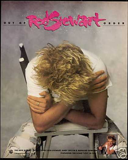 Rod Stewart Out of Order Record Promo (1988)