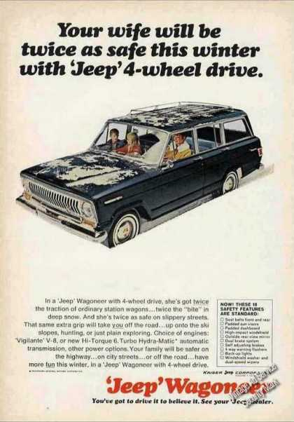 "Jeep Wagoneer 4-wheel Drive ""Twice As Safe"" (1966)"