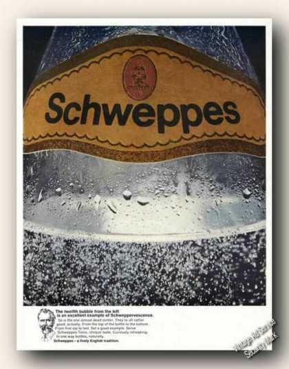 Schweppes Tonic Tweltfth Bubble From the Left (1968)