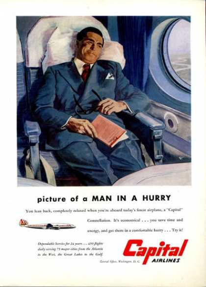 Capital Airlines Passenger Seat (1951)