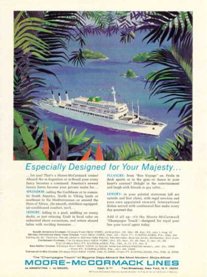 Moore Mccormack Cruise Lines Ship Boat Brasil (1965)