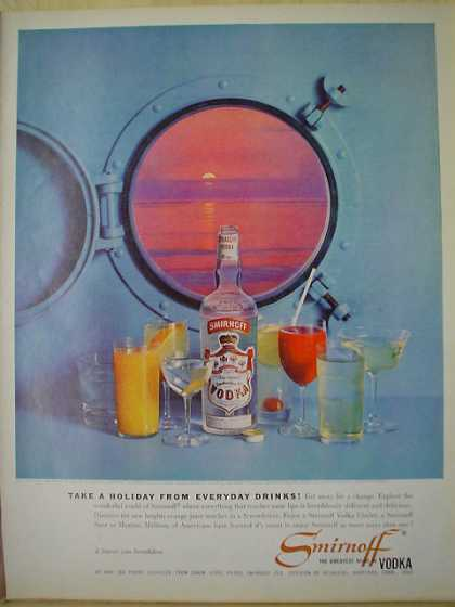 Smirnoff Vodka Take a holiday Cruise ship theme (1961)