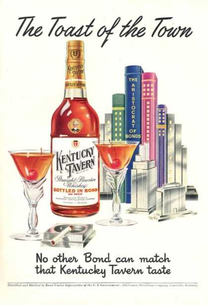 Kentucky Tavern Whisky Bottle (1951)