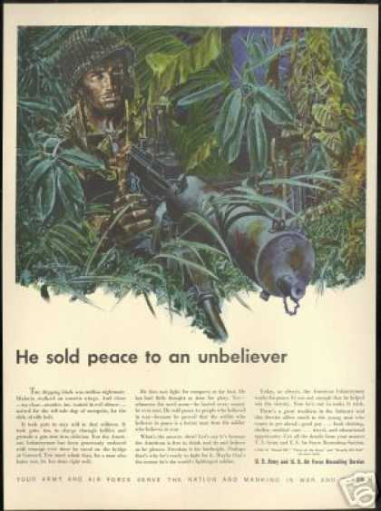 U.S Soldier Jungle US Army Air Force Recruiting (1948)