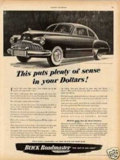 "Buick Roadmaster Car Ad ""This Puts Plenty... (1949)"