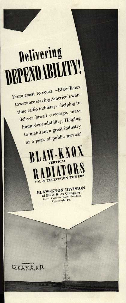 Blaw-Knox Company's Radio Towers – Delivering Dependability (1943)