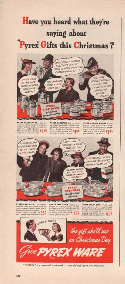 Give Pyrex Ware for Christmas Gifts Print (1941)