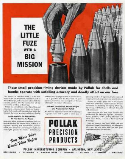 Little Fuse Big Mission Pollak Arlington Nj (1944)