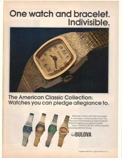 '76 Bulova American Classic Collection Watches (1976)