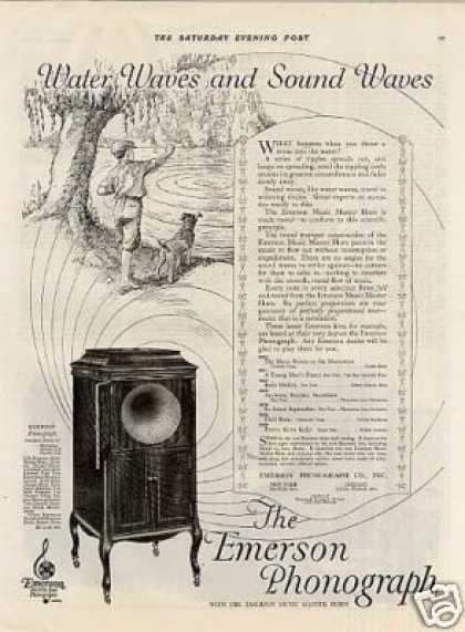 Emerson Phonograph Ad Model 20 (1920)