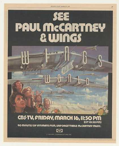 '79 Paul McCartney CBS-TV Wings Over The World (1979)