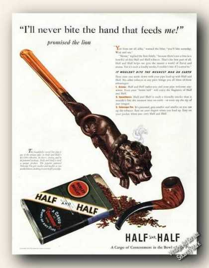 No Bite Hand That Feeds Half and Half Tobacco (1941)