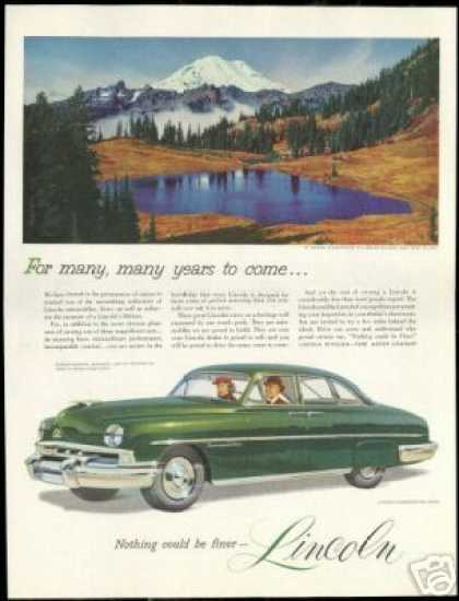 Lincoln Cosmopolitan Car Mt Rainier Washington (1951)