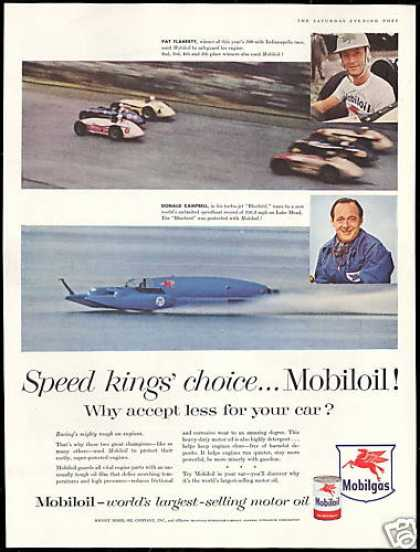 Mobil Gas Car Boat Pat Flaherty Donald Campbell (1956)