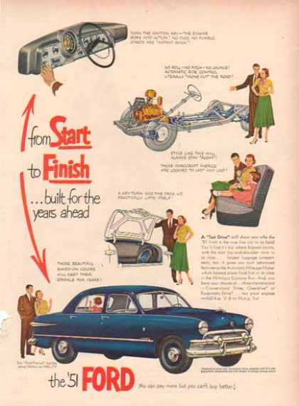 Ford Car – Blue – Built for the Years Ahead (1951)