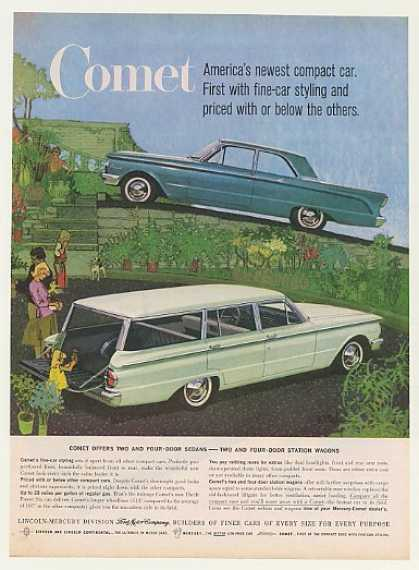 Mercury Comet 2-Door Sedan 4-Dr Wagon Bob Peak (1960)