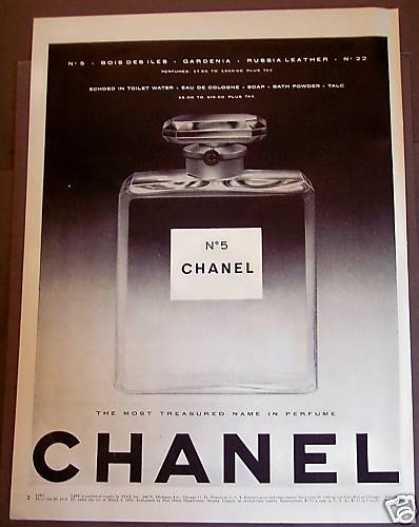 "Chanel No 5 ""Most Trusted Name In Perfume"" (1954)"