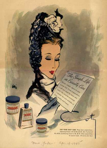 Coty's Cosmetics – The Simple Life in Beauty Care (1945)