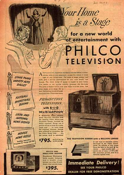 Philco – Your Home is a Stage (1947)