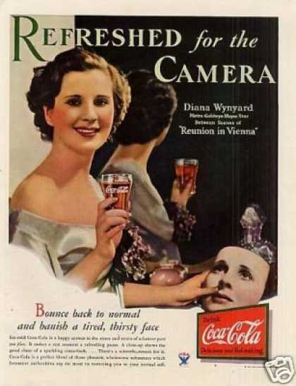 "Coca-cola Color Ad ""Refreshed for the Camera... (1933)"