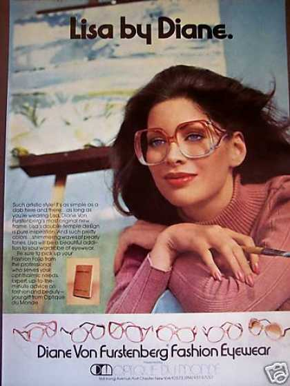 Diane Furstenberg Fashion Eyewear Glasses Photo (1976)