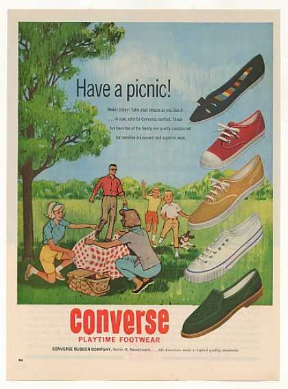 Converse Playtime Footwear Shoes Family Picnic (1962)