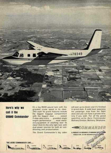Rockwell Grand Commander In Flight Photo (1966)