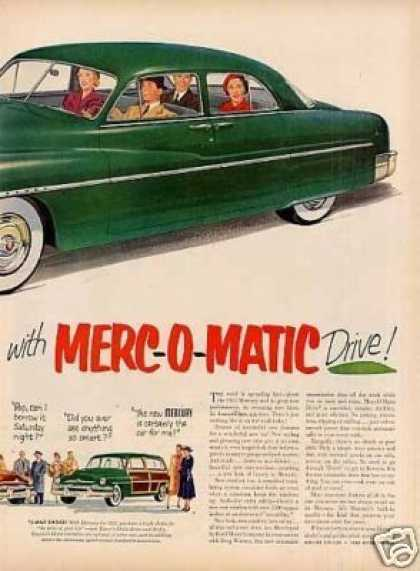 "Mercury Car 2 Page Ad ""Nothing Like It... (1951)"