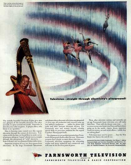 Farnsworth Television and Radio Corporation's Television – Television-straight through electricity's playground (1944)