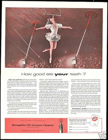 Circus Good Teeth Metropolitan Life Insurance (1956)