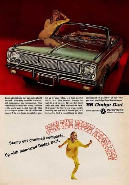 -'66 Dodge Dart Man Sized Dodge – Green (1965)