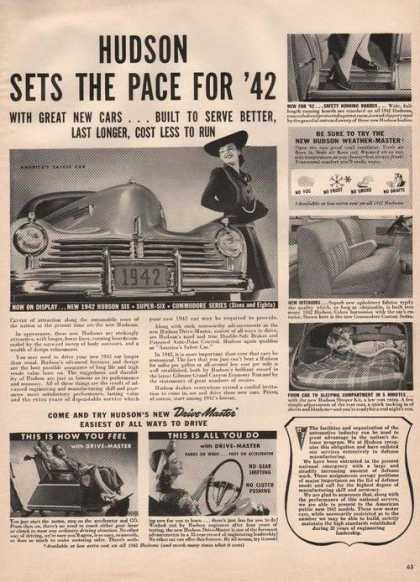 Hudson Set the Pace for 1942 Drive Master (1941)