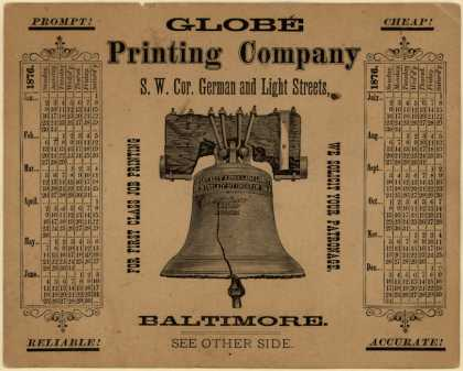 Globe Printing Co.'s First Class Print Job – Globe Printing Company (1876)