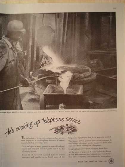 Bell Telephone Cooking up service (1947)