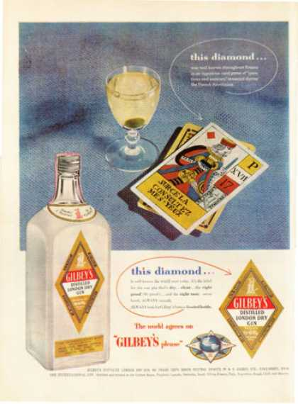 Gilbey's London Dry Gin Card (1954)