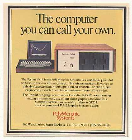 PolyMorphic Systems System 8813 Computer (1977)