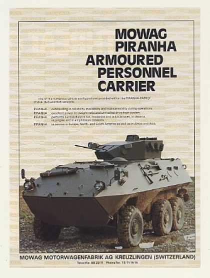 Mowag Piranha Armoured Personnel Carrier Photo (1986)