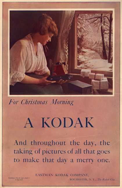 Kodak – For Christmas Morning, A Kodak (1914)
