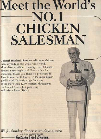 Kentucky Fried Chicken&#8217;s Colonel Harland Sanders (1966)