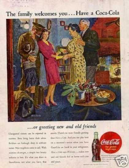 "Coca-cola Ad ""The Family Welcomes... (1945)"