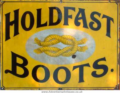 Holdfast Boots Enamel Sign