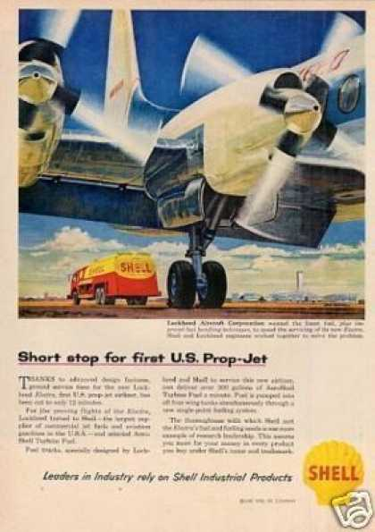Shell Ad Lockheed Aircraft Corporation (1958)