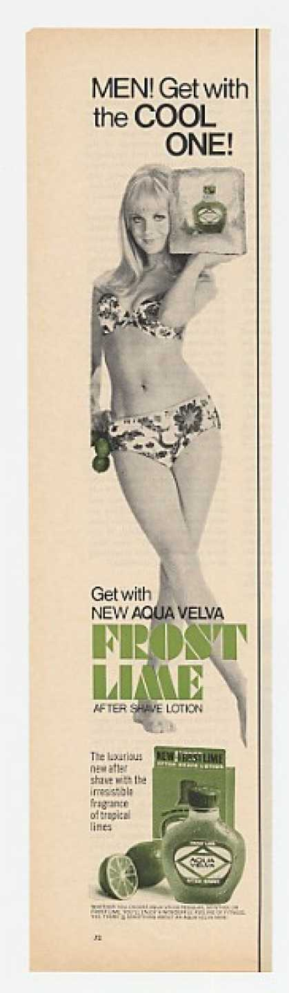 Aqua Velva Frost Lime After Shave Bikini Lady (1967)