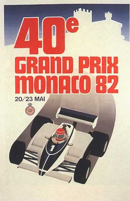 Monaco Grand Prix by Geo Ham (1982)
