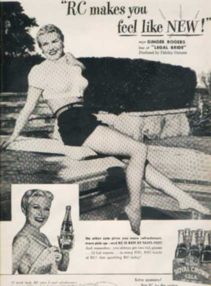 Ginger Rogers – Royal Crown Cola (1950)