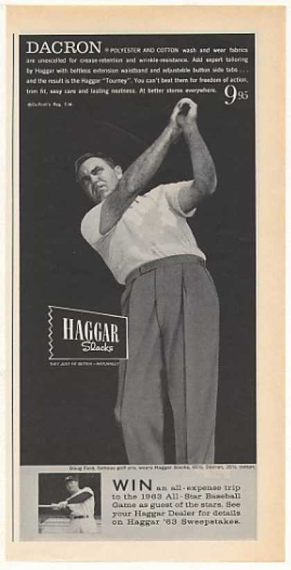 Golfer Doug Ford Haggar Slacks Photo (1963)