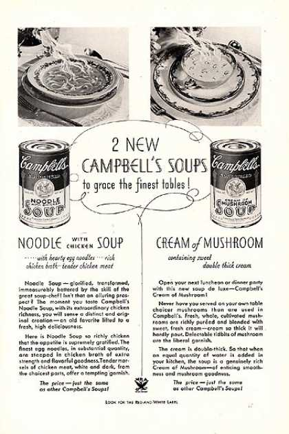Campbell's 2 New Soups (1934)
