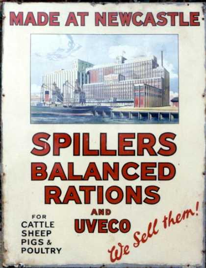 Spillers Balanced Rations Sign